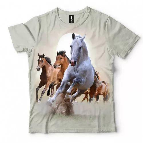 Koszulka z Końmi | Koszulki 3d | Koszulka 3d | t-shirt 3d | t-shirts 3d - Tulzo