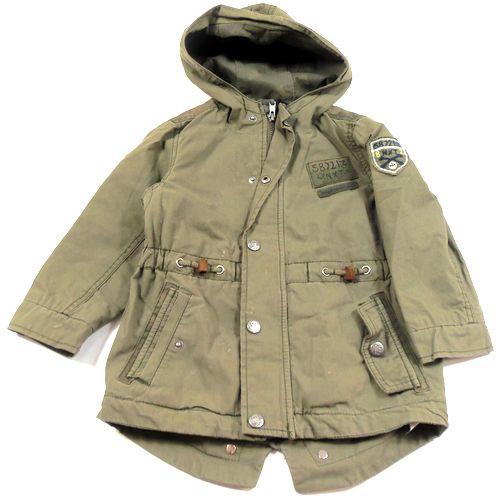 BRUMLA.CZ – Značkový dětský a dospělý second hand a outlet, použité oděvy pro děti a dospělé - Khaki plátěná jarní bundička s nášivkou zn. Next