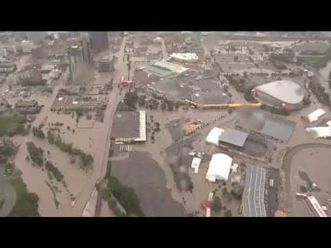 Unbelievable Calgary Downtown core flooding - YouTube