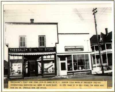 Thessalon Dime and International Harvester Stores, circa 1938