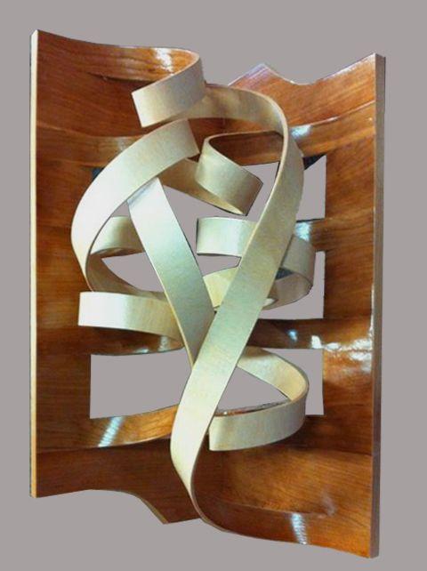 Lampada Torsion in Flex Legno- Illuminazione stip Led