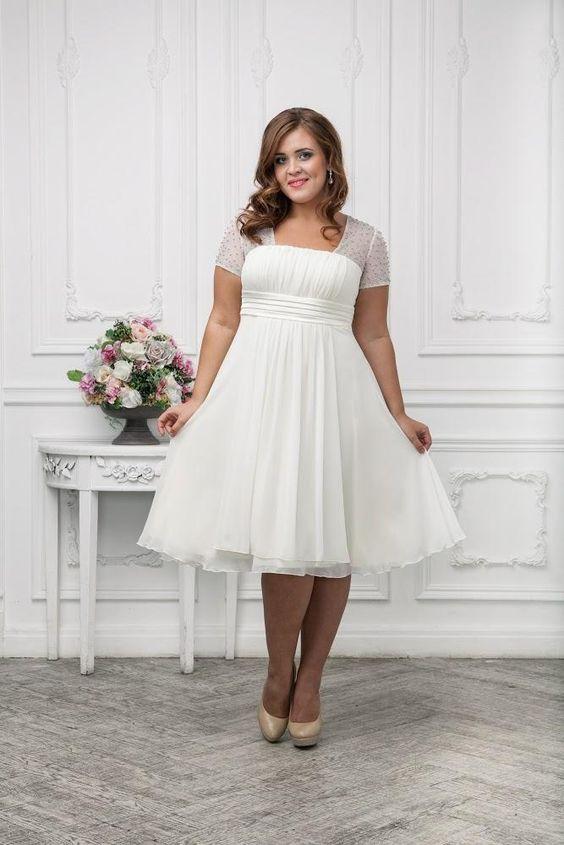 Vestido de noiva curto: inspirações lindas e leves