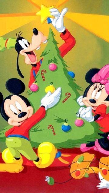 Fondo de Pantalla de Dibujos Animados: Mickey - Navidad
