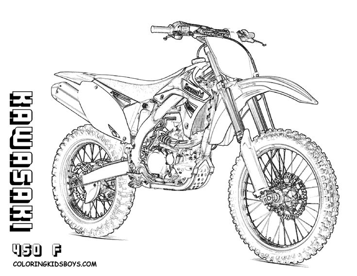 Motocross fmx dirt bike coloring dirtbikes free motosports dirt bike,motocross coloring pages
