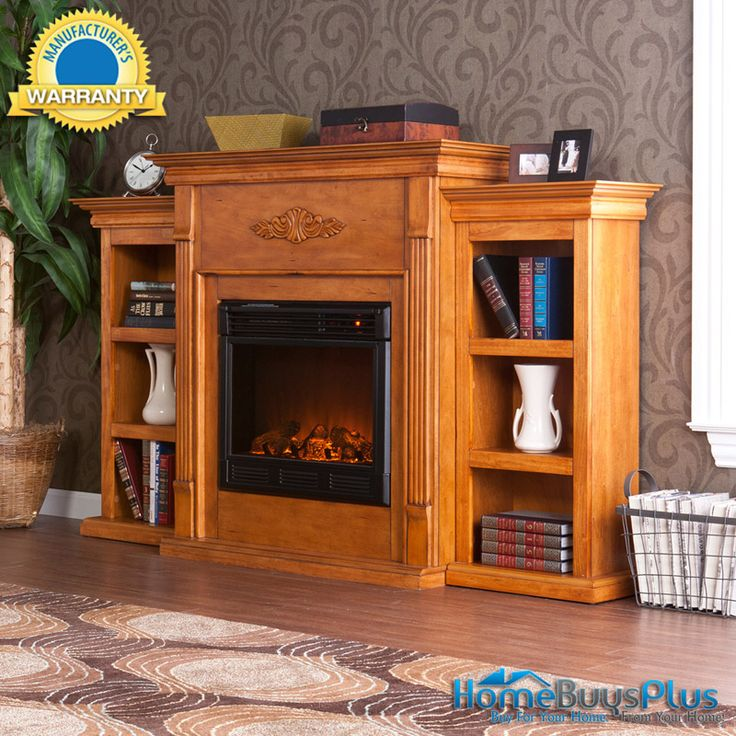 2012 Tennyson Plantation Oak Electric Fireplace W/ Bookcases Tv Stand.  $749.99 - 17 Best Images About Fire Place/TV Stands On Pinterest Electric