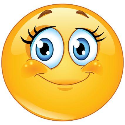 Creepy smile emoji