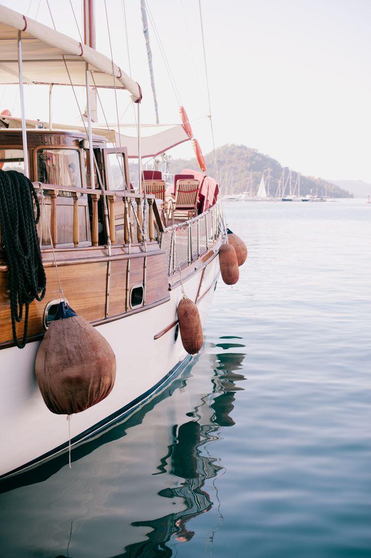 Gullet in the Marina at Goeck, Turkey / photo by Jaime Lauren