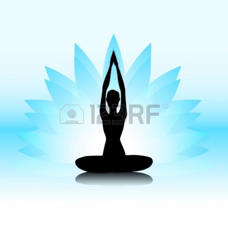 Silhouette femminile sul loto blu Archivio Fotografico - 24226063