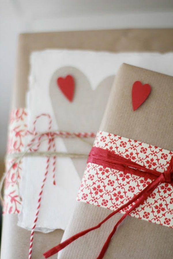 Cœurs sur l'emballage