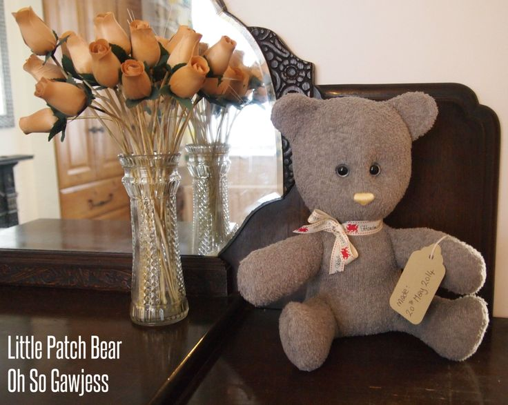 Oh So Gawjess: Baby's Bottom Drawer // Fifi Stitch Bear // Giveaway win a handmade vintage teddy bear