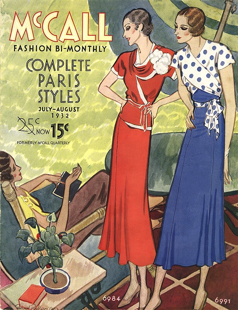 McCall Fashion Bi-Monthly, July-August 1932 Illustration  by  Robert Patterson
