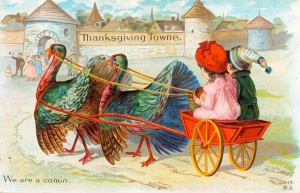 """Thanksgiving Towne. We are a comin."" (1900) ©Missouri History Museum"