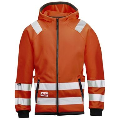 The Snickers High-Vis Micro Fleece Jacket is a warm and light high visibility garment. It is made of quick-drying material and features a hood and plenty of pockets. It conforms to EN 471, Class 3.