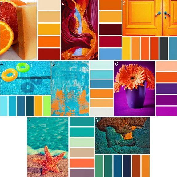 Гармоничное сочетание оранжевого цвета