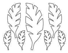 Palm Leaf Pattern. Use The Printable Outline For Crafts, Creating Stencils,  Scrapbooking,