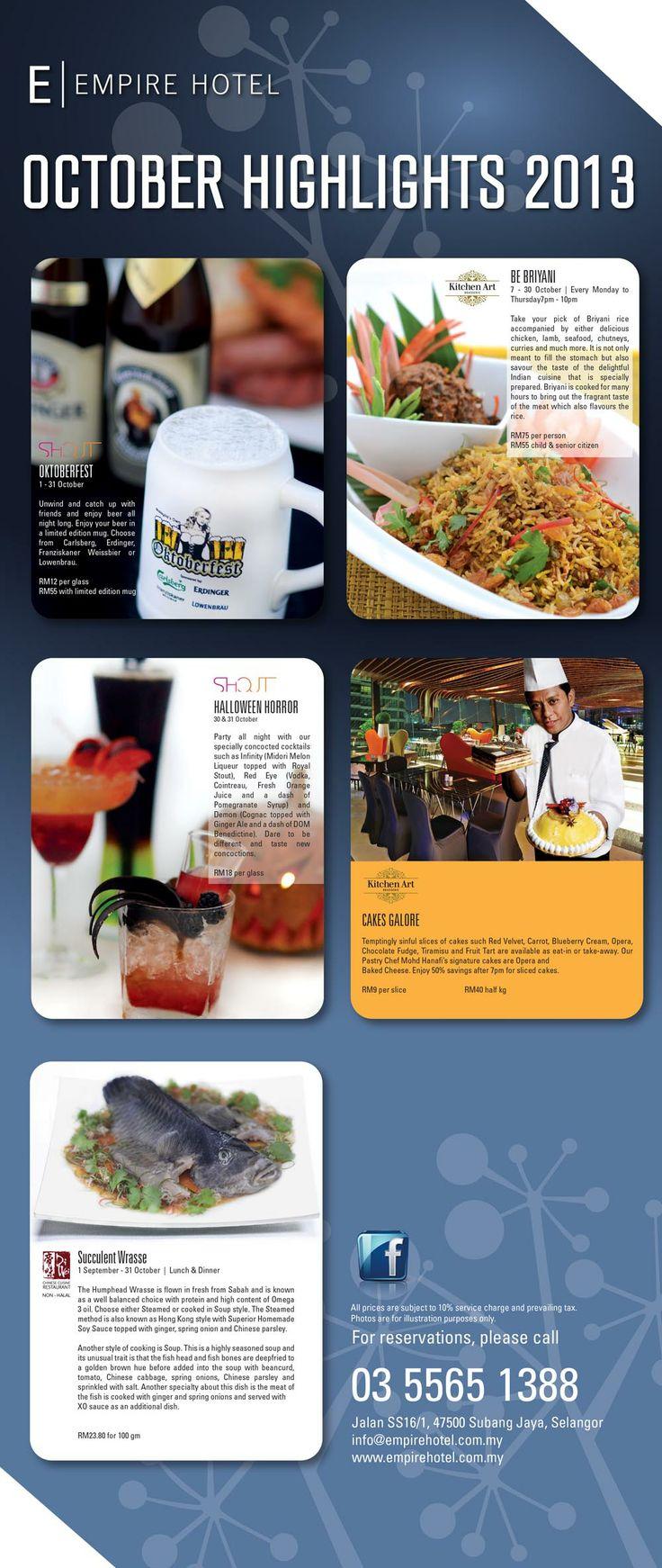 Empire Times Oct 2013 by Empire Hotel Subang  http://www.empirehotel.com.my/kitchen-art.html