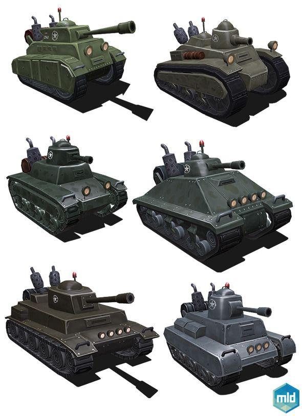 Low Poly Tank Set