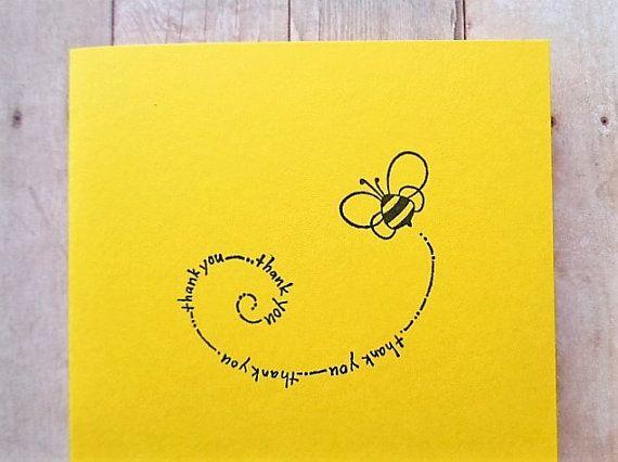 Bumble Bee dank u kaarten helder gele kaart
