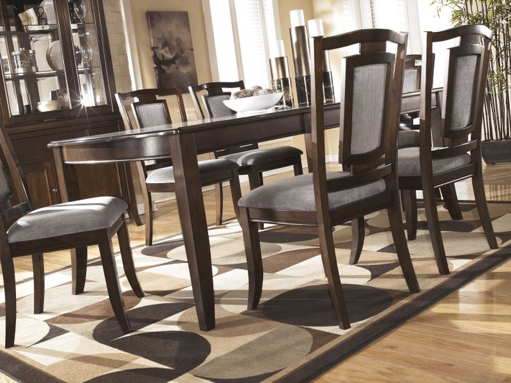 From The Martini Suite Collection Dining Room StorageExtension TableUpholstered