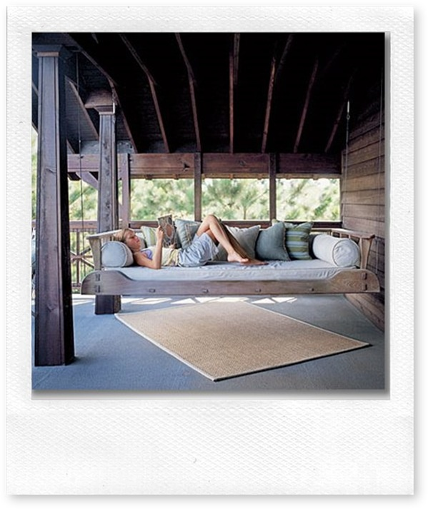 I can think of so many fun things I could do on this Swing bed!!!!