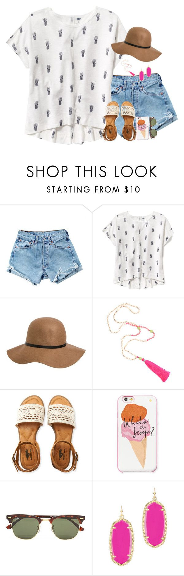 """""""Comment snapchat names to start streaks"""" by remiii13 ❤ liked on Polyvore featuring Levi's, Old Navy, RVCA, Aéropostale, Kate Spade, Ray-Ban and Kendra Scott"""