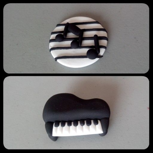Music Música Piano Dije notas musicales Jumping clay