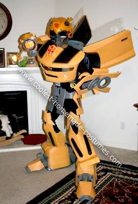 Homemade Bumblebee Transformer Costume: More than meets the eye! - that's what I wanted to be this Halloween. This year I decided to make my own Homemade Bumblebee Transformer Costume, an Autobot