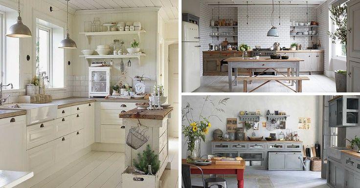 Vous cherchez des idées de déco pour une cuisine campagne chic ? Découvrez ici 9 magnifiques cuisines pour un style campagne chic et champêtre !