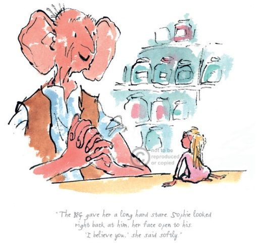Roald Dahl The BFG Gave Her a Long Hard Stare Limited Edition Print l Contemporary Art