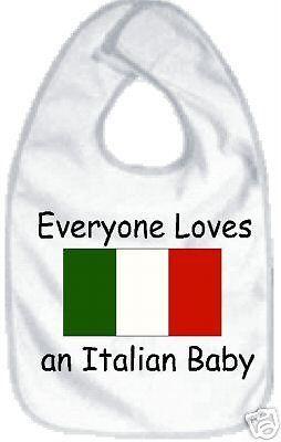 Everyone loves an Italian baby bib funny newborn by Ilove2sparkle, $5.99