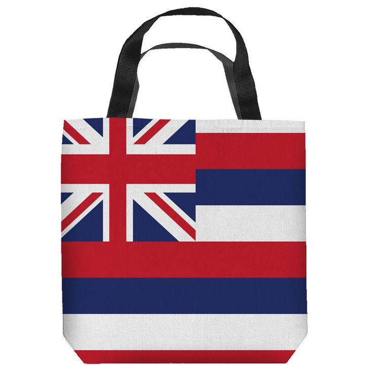 HAWAII FLAG LIGHTWEIGHT TOTE BAG 2 SIDED PRINT #Unbranded #TotesShoppers