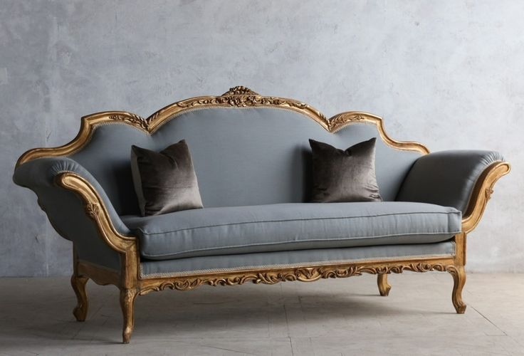 1920 39 s vintage shabby gilt italianate rococo daybed antique carved sofa furniture. Black Bedroom Furniture Sets. Home Design Ideas