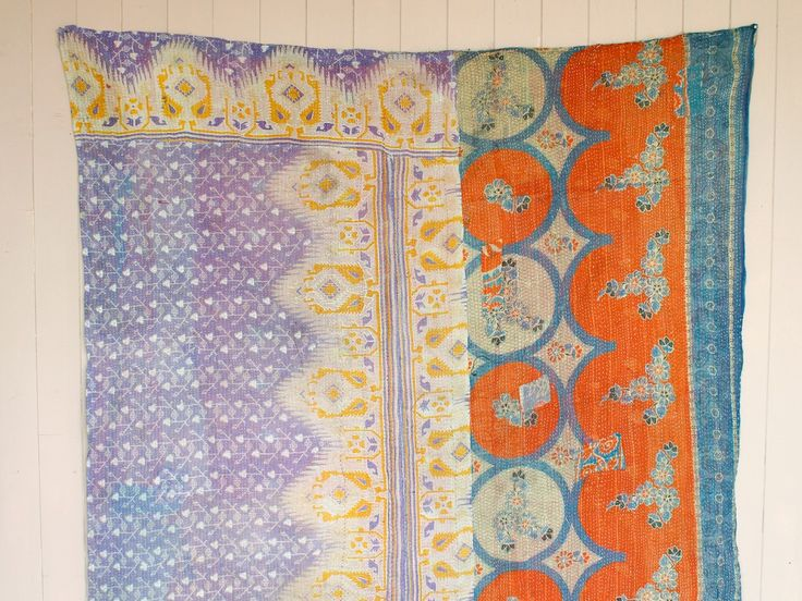 Vintage Kantha Quilts Available Now at Scaramanga | http://www.scaramangashop.co.uk/Fashion-and-Furniture-Blog/vintage-kantha-quilts-available-now-scaramanga/