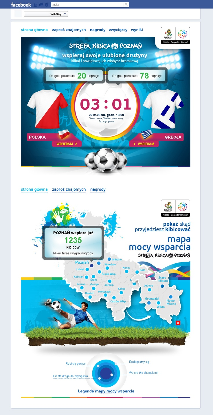 #design Euro2012 // Facebook #app // by www.studiosynergia.pl