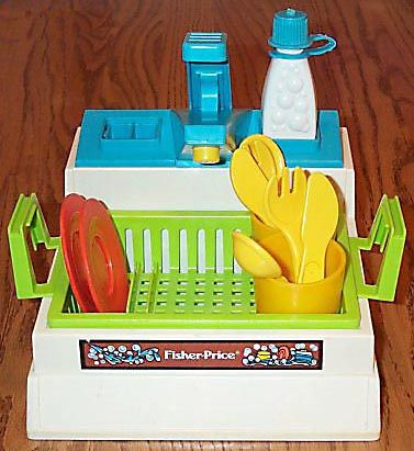 Fisher Price sink. I guess I had all the Fisher Price stuff...including the kitchen sink.