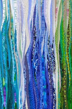 Blue Dream Quilt, 2015. The Quilts of Ann Brauer: flames
