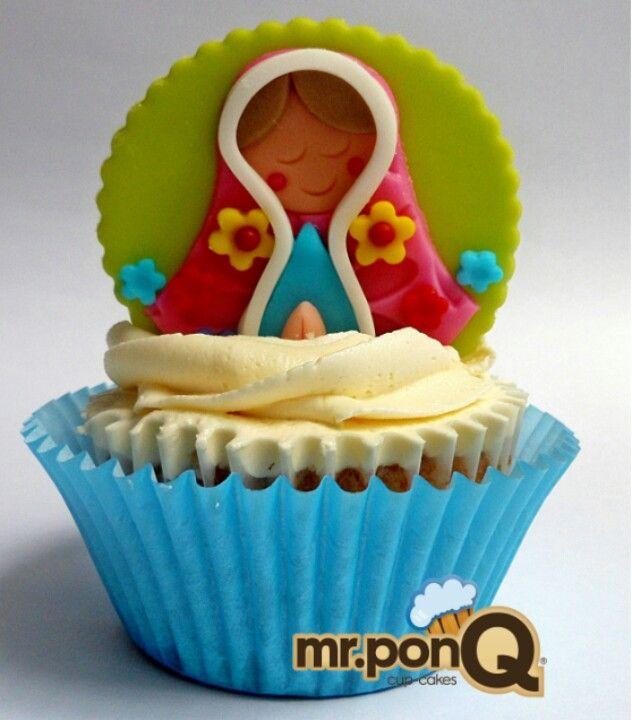 Mr.ponQ cup-cake virgencita pls. Para primeras comuniones o bautizos