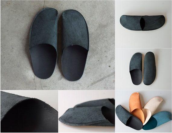 DIY handmade leather slippers