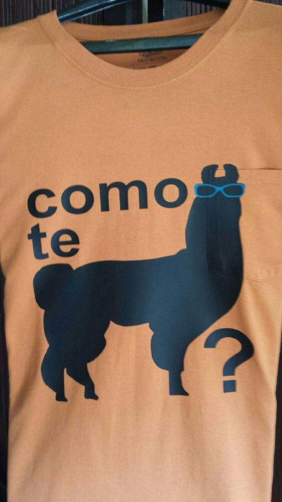 Como te llama?  T-shirt With llama llama duck sleeve.