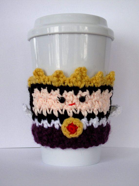 Tasse à café méchante Reine confortable en crochet