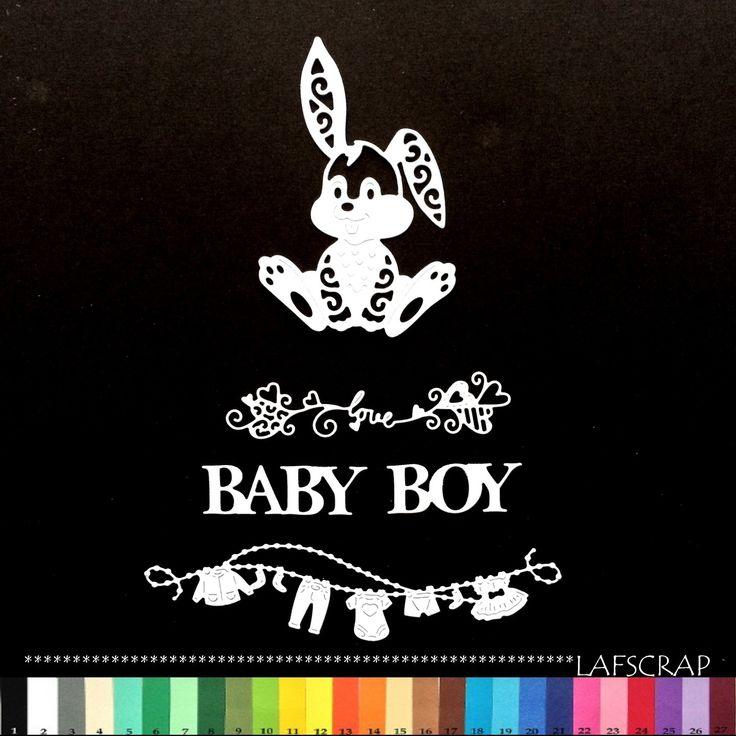 lot découpes bébé naissance lapin animal baby boy garçon love amour coeur vêtement scrapbooking embellissement : Embellissements par lafscrap
