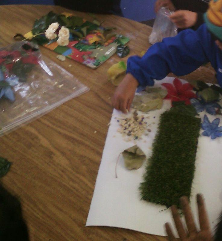 realización de maqueta el bosque con material que tenemos en casa