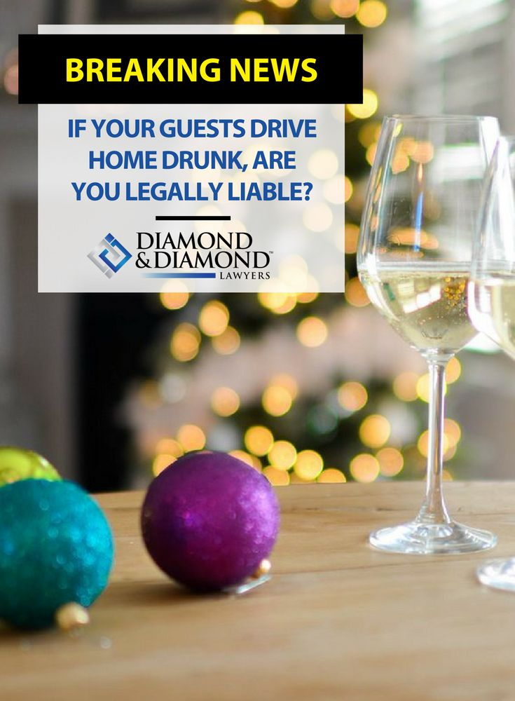 Are you legally liable if you throw a holiday party and your guests drive home intoxicated, injuring themselves or others? Jeremy Diamond talked with Global News to discuss the lack of clarity around legal responsibilities for party hosts.