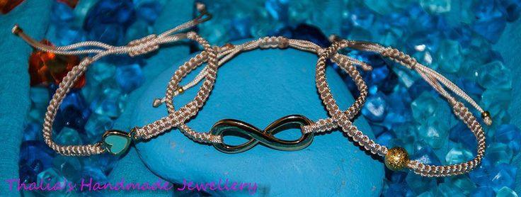 beige macrame bracelets
