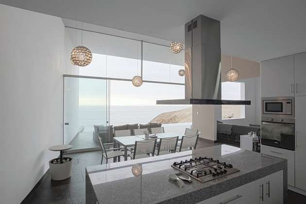 Cucina e soggiorno open space - Cucina a vista open space