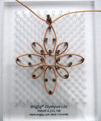 wig jig wire pendant. Use to make outline of pendant. Then use thinner wire to wrap beads everywhere.