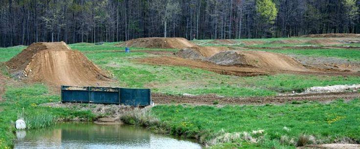 dirt bike track in back yard :D   Aim for my home ...