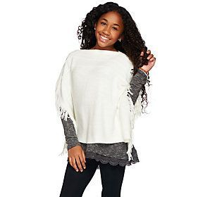 Layers by Lizden Marvelush Little Ladies Poncho