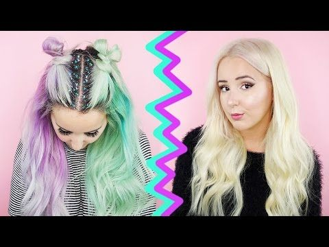 How To: Remove Hair Color/Stripping for Stained Hair - Blue, Green + Red | by tashaleelyn - YouTube
