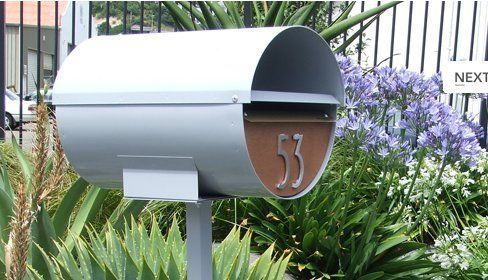 Pam profiles 10 modern mailboxes -- wall mount and post mount -- that would be right at home at a mid century ranch, colonial or contemporary home.